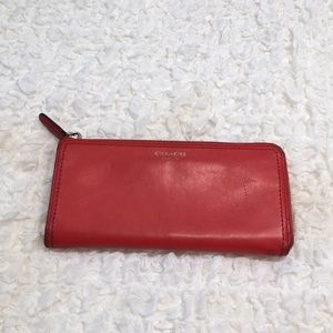 Orange Coach New York Wallet